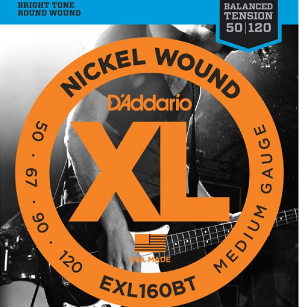 D`ADDARIO  EXL160 Nickel Wound Bass, Medium, 50-105, Long Scale