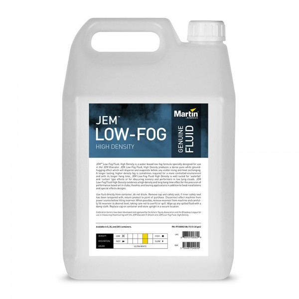 MARTIN JEM Low-Fog Fluid, High Density, 5l