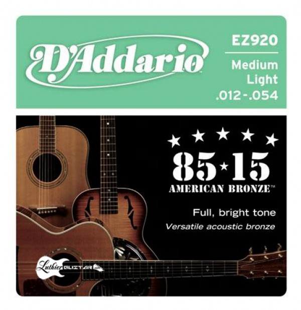 D`ADDARIO  EZ920 Bronze Medium Light 85/15
