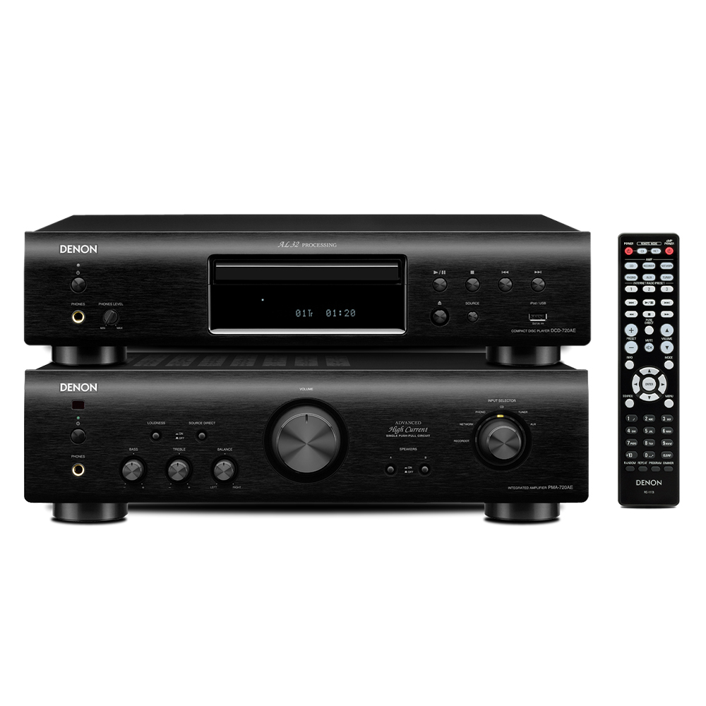 PLAYER DENON PMA 720AE Black + DENON DCD 720AE Black