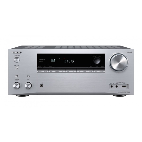 ONKYO TX-NR686 Silver 7 2 Network AV Receiver w/ Dolby Atmos - Player Plus  doo