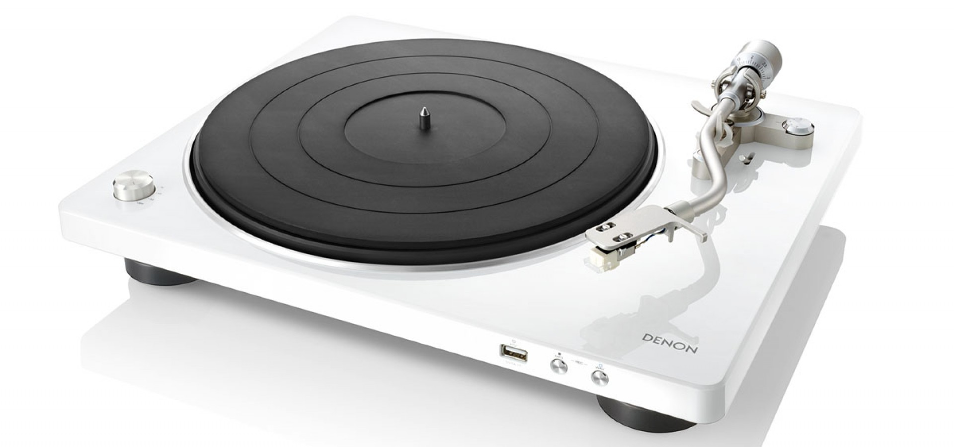 DENON DP-450 White Turntable w/ USB