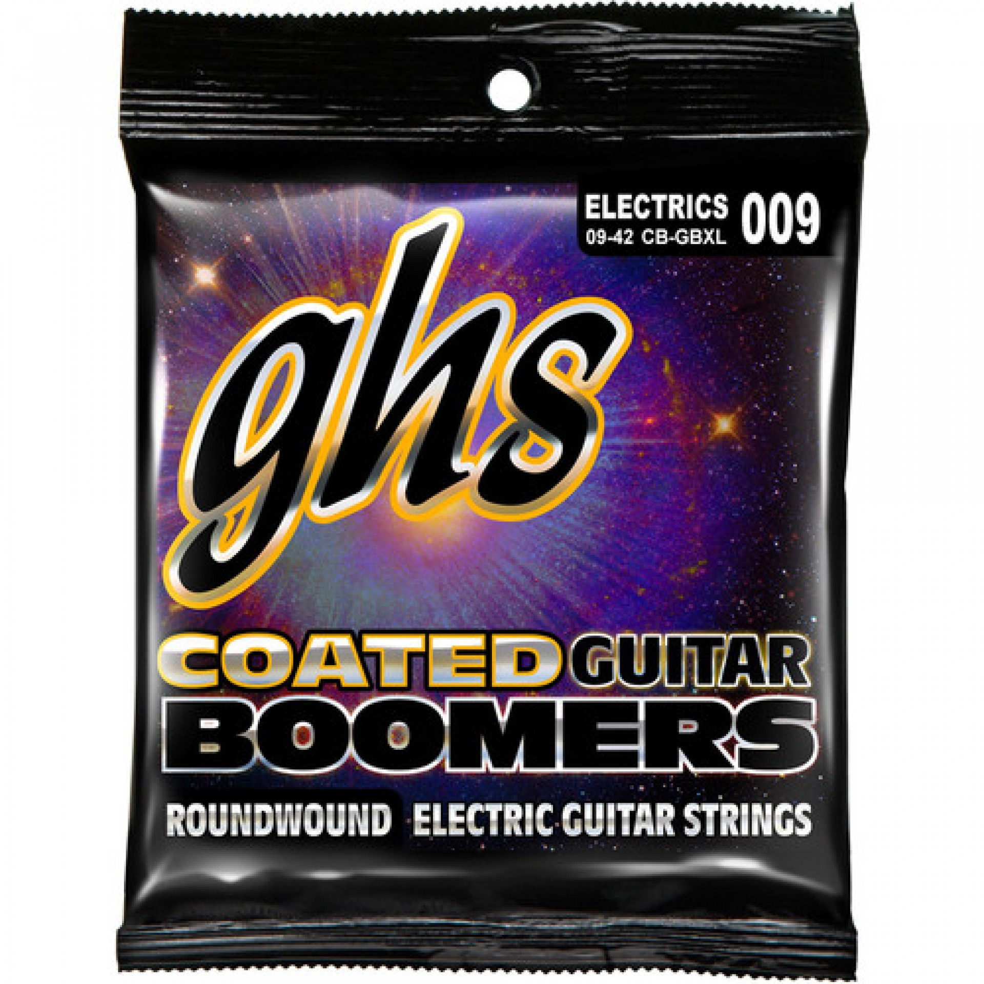 GHS CB-GBXL Extra Light Coated Boomers Roundwound Electric Guitar Strings (6-String Set, 10 - 46)