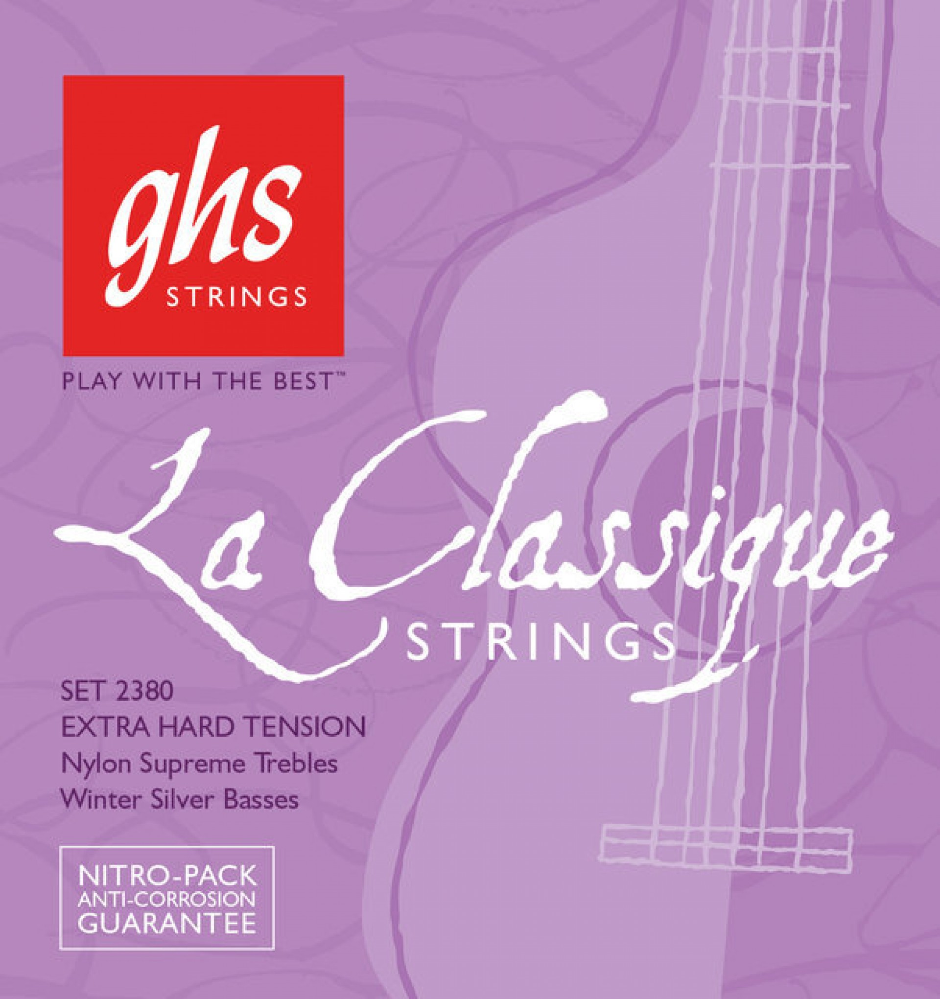 GHS 2380 LA CLASSIQUE Extra Hard Tension, Nylon Supreme Trebles/Winter Silver Basses