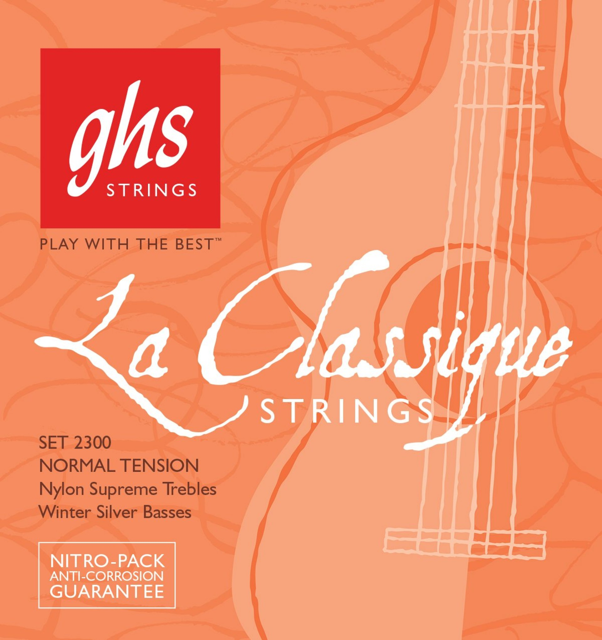 GHS 2300 LA CLASSIQUE Normal Tension, Nylon Supreme Trebles/Winter Silver Basses