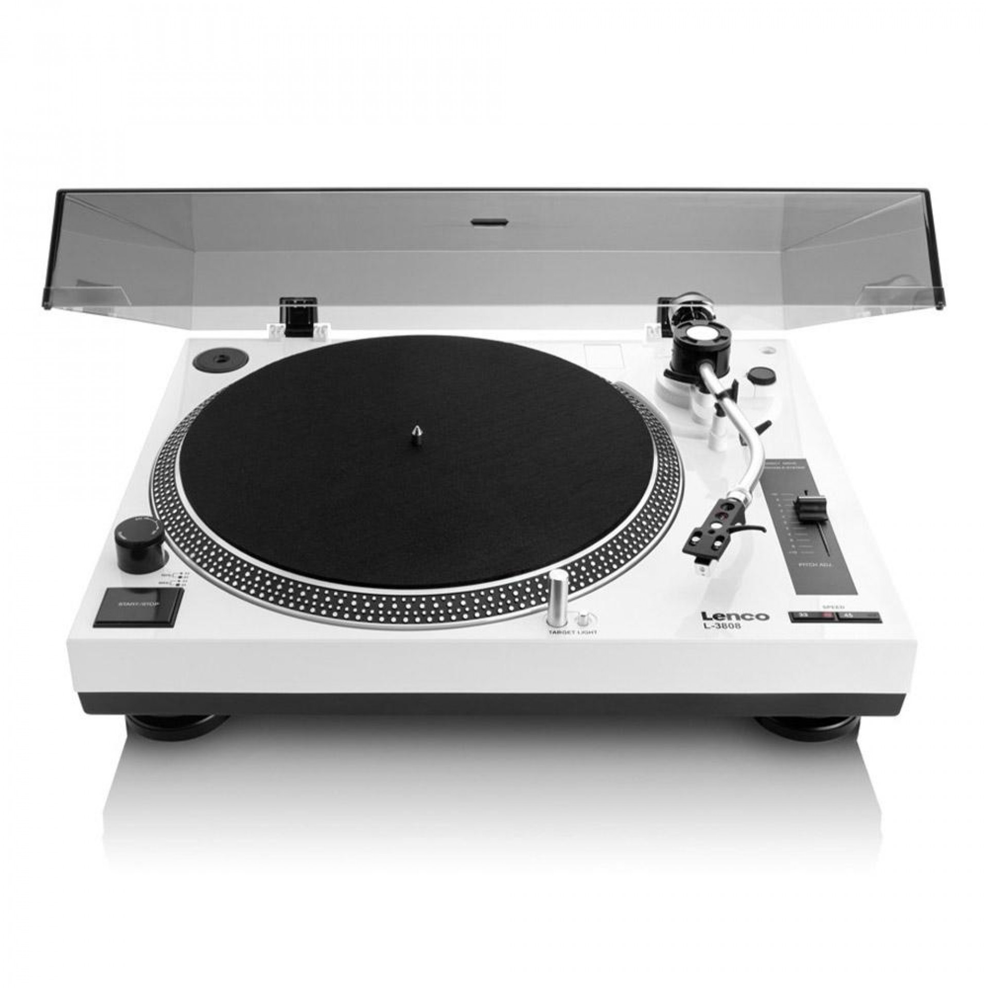 Lenco L-3808 - Direct drive turntable White