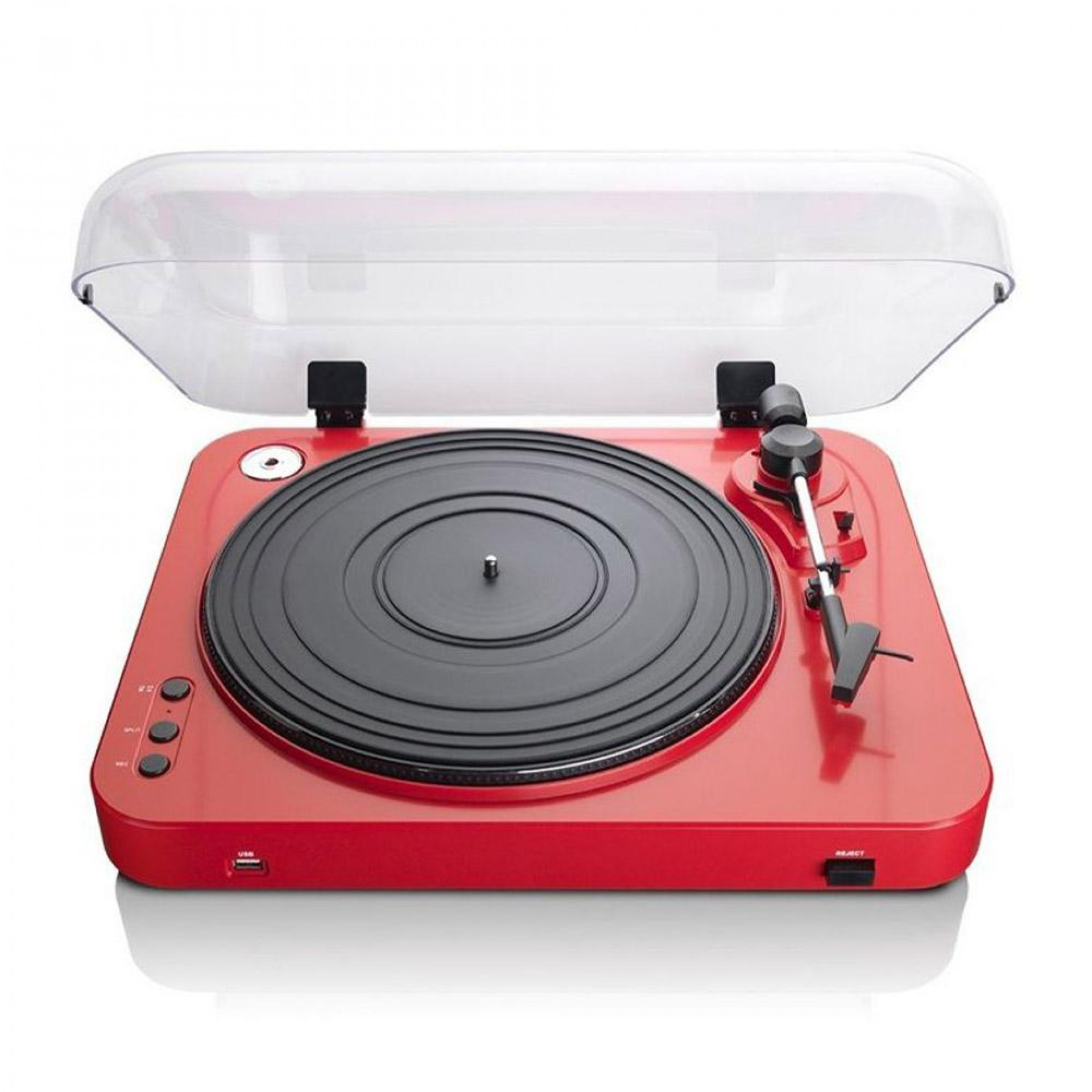 Lenco L-85 Turntable w/ mechanical arm lift and autostop return Red