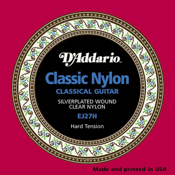 D`ADDARIO  EJ27H Student Nylon, Hard Tension