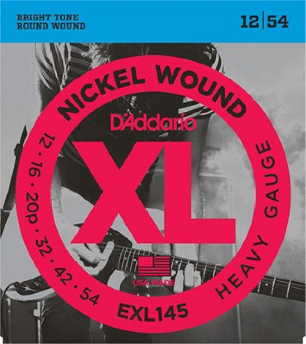 D`ADDARIO  EXL145 Nickel Wound, Heavy, Plain 3rd, 12-54