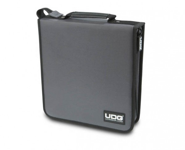 UDG CD Wallet 128 Steel Grey/Orange inside